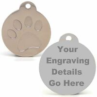 Engraved Pet Tags DOG CAT ID Disc Disk Disc FREE Post & Deep Engraving!!!!
