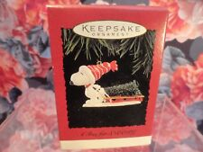 "Vintage 1996 ""A Tree For Snoopy"" Hallmark Keepsake Christmas Ornament New In Box"
