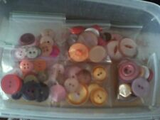 Assorted Sizes of Pink, Peach, Orange and Red Button FREE POSTAGE IN UK