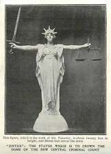 1905 Mr Pomeroy Statue Justice To Crown Dome Of New Central Criminal Court
