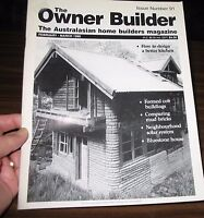 THE OWNER BUILDER MAGAZINE NO.91 February-March 1999  Formed cob buildings