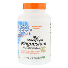 Doctor's Best, High Absorption Magnesium, 100% Chelated with Albion Minerals 240