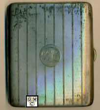 English Sterling Cigarette Case Birmingham 1921 , Wt. 192 Gm (OOAK)