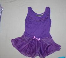 Girl Purple Freestyle by Danskin Bling Ballet Dance Skirted Leotard Size S 6/6X