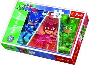 Trefl 30 Piece Kids Boys PJ Masks Brave Team Rescue Play Fun Jigsaw Puzzle NEW