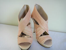 Wayne by Wayne Copper Pink Chiffon Covered, Front Platform Shoes Size 37