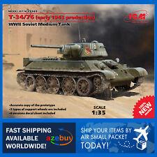 Т-34/76 early 1943 production Medium Tank 1/35 Scale Plastic Model Kit ICM 35365