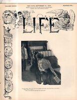 1899 Life - September 21 - Hurricane destroys Porto Rico; Golf Centerfold; Drew