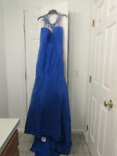 Wedding Dress womans prom gown blue size 16