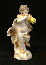 Antique Porcelain Meissen Putti Figurine. Winter.