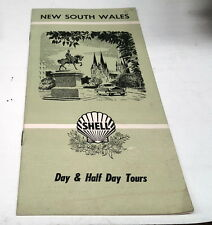 1959 ?  SHELL Oil Co. DAY TOURS Booklet  of NEW SOUTH WALES  Australia