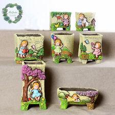 Little girl series plant pot/ Cacti & Succulent pot/ planter