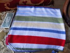 Baby Connection 30x30 Lovey Blanket Striped Blue Green Yellow White Red Unisex