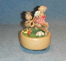 "VINTAGE HAND PAINTED SCHMID MUSIC BOX PLAYS ""DOWN BY THE OLD MILL STREAMER"" #336"