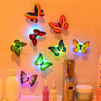 Butterfly LED Night Light 7 Colors Changing Lamp with Suction Cup Home Decor