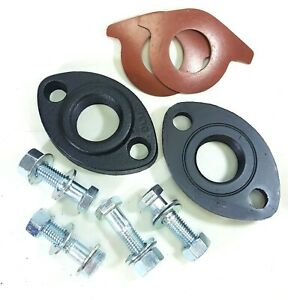 "1-1/2"" Coated Cast Iron Oval Meter Flange Connection KIt for 1.5"" Water Meter,"