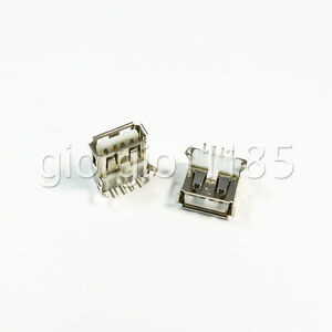 The New USB USB Connector Connector.50pcs A Socket Curved Legs line Female 180 Degree Davitu Electrical Equipments Supplies