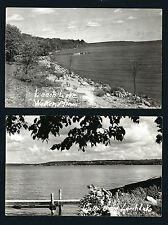Walker Minnesota MN 2 Different, 1940s RPPCs Leech Lake Bays, Docks, Boats, Town