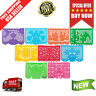 9-Pack Mexicano Large Plastic Papel Picado Banner Mexican Party Decor 15' Long