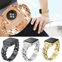 Crystal Alloy Watch Band Bracelet Strap for Apple Watch 1 2 3 Series 38mm/42mm