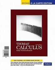 MAURICE D. WEIR, JOEL R. HASS, GEORGE B., JR. THOMAS - Thomas' Calculus: Early