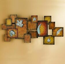 NEW SOUTHERN ENTERPRISES LEAVES / ABSTRACT WALL ART PANEL - BROWNS