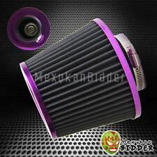3'' Inlet Purple/Gray Short Ram/Cold Intake High Flow Mesh Air Filter Universal