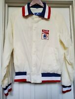 Vintage🔥 Champion USA Olympic Team 80's Snap Button Varsity Jacket Medium ivory
