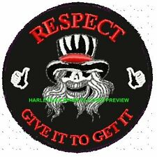 RESPECT - GIVE IT TO GET IT....  VEST BIKER PATCH