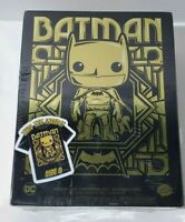 Funko Pop! Gotham City Edition Gold Batman With T-Shirt Size Small New Target