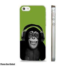 FUNNY MONKEY CHIMP DJ MUSIC ART CASE FOR IPHONE 4 4S 5 5S 5C 6 6S 7 8 SE PLUS X