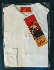 Girls' Uniform Button Down Round Collar Short Sleeve White Shirt Blouse Girls' 6