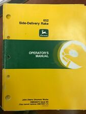 John Deere Operators Manual 652 Side Delivery Rake #Ome80675 Used