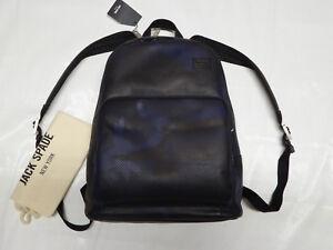 ~$500 JACK SPADE Leather Backpack Camo Dots Army *NYRU2636* NAVY Bookpack +Bag
