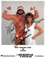 Macho Man Randy Savage & Elizabeth Autograph Pre Print Wrestling 8x6 WWF WCW