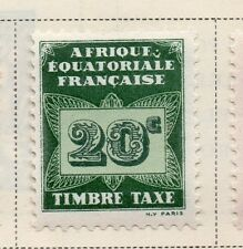French Equatorial Africa 1937 Postage Due Issue Fine Mint Hinged 20c. 144036