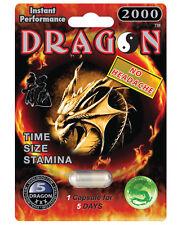 DRAGON 2000-Male Sexual Enhancement Pill Men Stamina Size Enhancer = Qty 6 pills