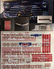 1947-1948 CHEVY FLEETLINE FLEETMASTER COUPE STYLEMASTER CONVERTIBLE Decal Set