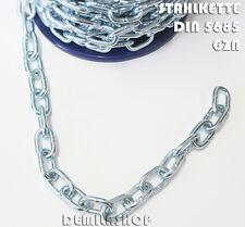 6 mm Stahlkette Eisen  verzinkt kurzgliedrig Gliederkette DIN 5685 NEU Stk=Meter