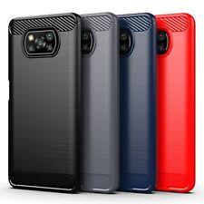 Case For Xiaomi Poco X3 NFC Carbon Fiber Texture Shockproof Soft Slim TPU Cover
