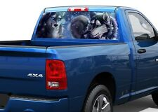Drawing Two Wolves Rear Window Decal Sticker Pick-up Truck SUV Car