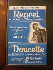 Partition Regret Jo Moutet Doucette Georges Besson Valses