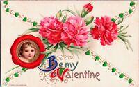 1910 Vintage John Winsch Schmucker Cupid/Flowers Antique Valentines Postcard