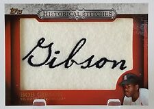 2012 TOPPS HISTORICAL STITCHES BOB GIBSON COMMEMORATIVE PATCH CARDINALS