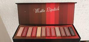 NEW Huda Beauty Liquid Makeup Matte Lipstick Full Collection Set 12 Shade