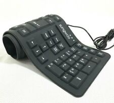 Sungwoo Foldable Silicone Keyboard USB Wired QWERTY Full Size Rollup Waterproof
