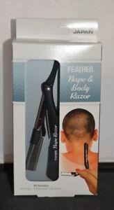 Jatai Feather Nape and Body Razor -Pack Includes Razor, 10 Blades, & Blade Glide