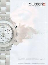 Publicité Advertising 2010  montre SWATCH la collection blanche