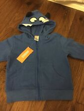NWT Gymboree baby boy Blue Monster sweatshirt hood FALL Jacket 6 9 12 Month