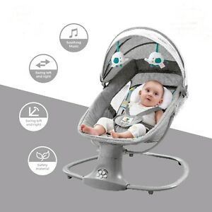 Baby Swing Leaf Electric Battery Deluxe Bassinet Baby Cradle Rocking 18Kg Limit